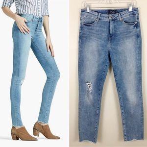 Lucky Brand High Rise Hayden Fray Hem Skinny Jeans